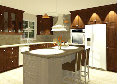 wichita-bar-design kitchen island rendering