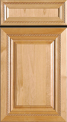 Mitered Raised Panel Door And Drawer Front With Rope Insert (Superior Alder)