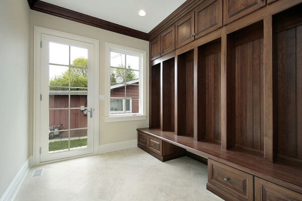 elegant utility room cabinets