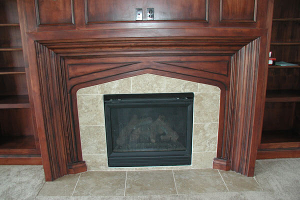 Fireplace surrounds custom built fireplace mantels wichita ks Home bar furniture wichita ks