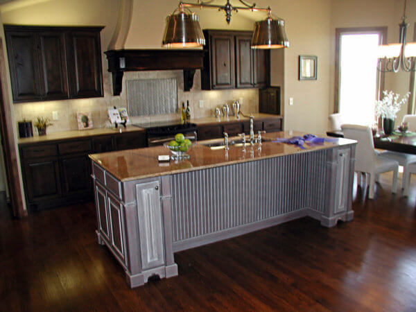 Kitchen island with range hood