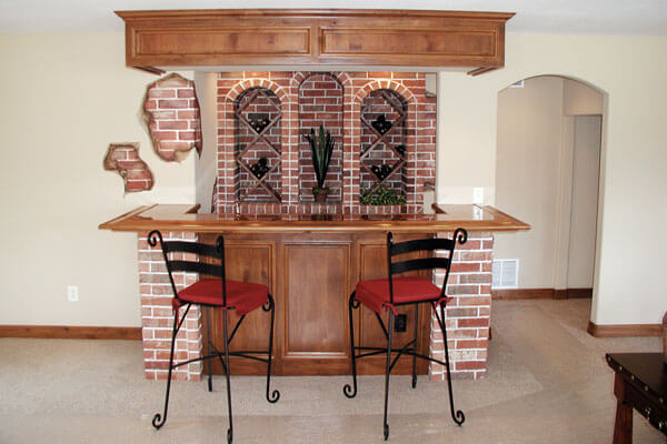 Custom wine racks custom wine cellars wichita ks Home bar furniture wichita ks