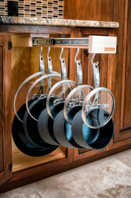 Glideware pots and pans pullout installation available from Records Cabinets Wichita, Ks.
