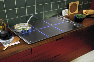 New illuminated induction cooktop available through Records Custom Cabinets and Trim