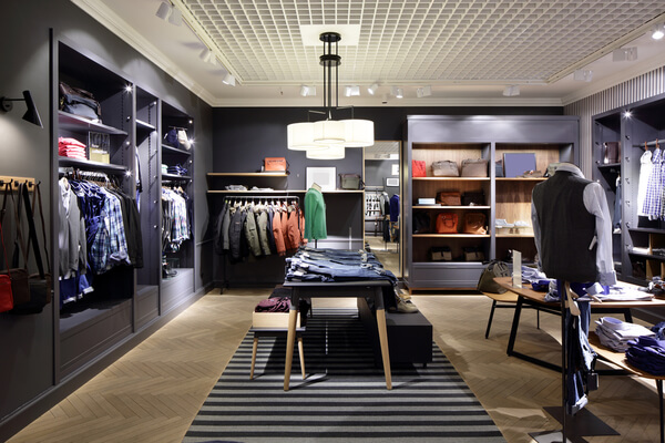 Commercial wood shelving, displays and store fixtures
